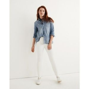 Madewell High Rise Skinny Jeans White Denim